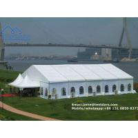Quality European Style Clear Span Structures White PVC Party Tent with Drapes Decoration for Sale for sale