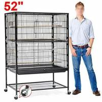go2buy Large Play Top Bird Cage Parttot Finch Macaw Cockatoo Birdcages