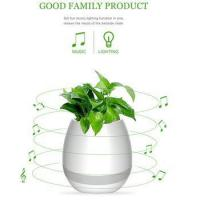 Quality Wireless Bluetooth Speaker Smart Music Playing Flowerpot with Colorful Light Night for sale
