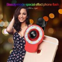Quality Selfie Ring Light 12 LED, Fish Eye Lens+0.65X Wide Angle Lens+10X Macro Lens for iPhone 7/6p/6 for sale