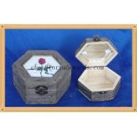 Quality Different color and painting gift pine wooden material box for gift packaging for sale