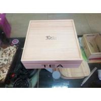 Quality wholesale Custom color solid wooden tea box with compartment for sale
