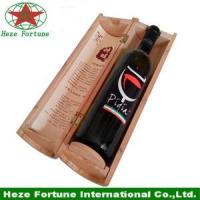 Quality round tube single bottle wine gift wooden box for sale