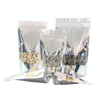 China Resealable foil clear window stand up ziplock bag on sale