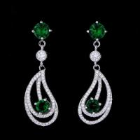 Quality Wholesale Fashion Daily Wear Jewelry Latest Model Rhinestone Stud Earrings For Ladies for sale