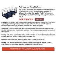 China Fork Mounted Work Platforms on sale