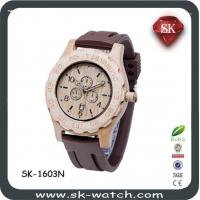 Newest Eco-friendly Sandalwood watch faux leather band