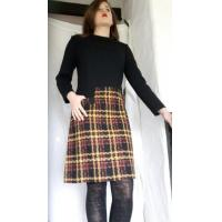 1960s Original New A line Pure Wool Dress 'Sylvies' 36 inch Chest