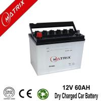 Quality 12V 60AH High Power Car Battery Dry Charge for sale
