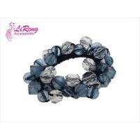 China Personality contracted brilliantly coloured transparent crystal elastic hair bands on sale