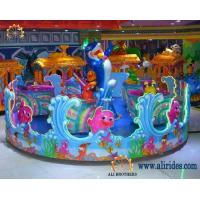 Buy cheap amusement Family rides rotary and spurting balls Ocean star rotary cups rides from wholesalers