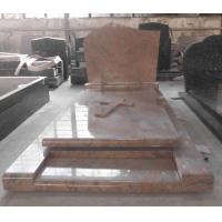 China Tombstone Gravestone Monument Rosso Crepuslolo Granite Tombstone Selling to Poland & France Market for sale