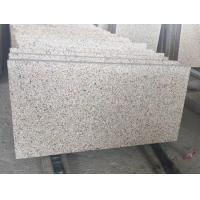 China Yellow Granite G682 Tiles Thickness 6cm Bush Hammered for sale