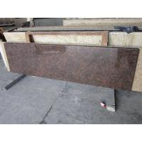 Quality Tan Brown Granite Tiles Polish Finished For Counter Top for sale