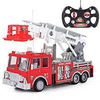 "Buy 13"" R/C Rescue Fire Engine Truck Remote Control Kids Toy with Extending Ladder at wholesale prices"
