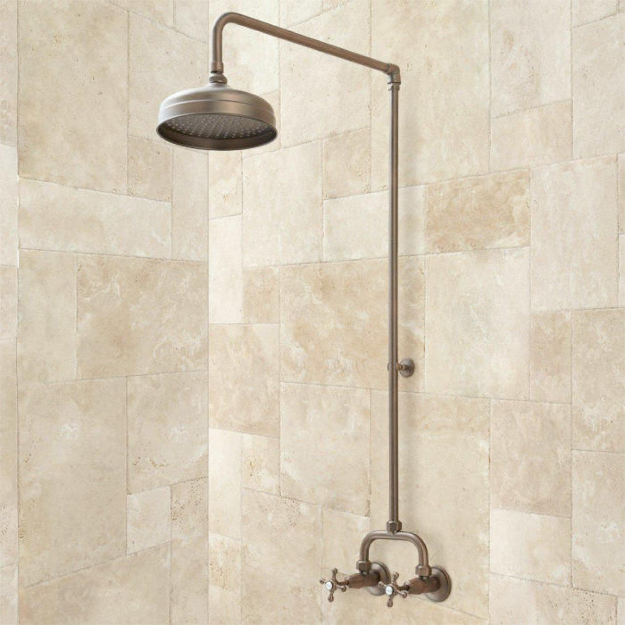 China exposed plumbing shower fixtures on sale