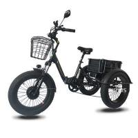 Buy cheap bike wheel 20inch Fat Tire Electric 3 wheel Bicycle/Electric bike for Adults from wholesalers