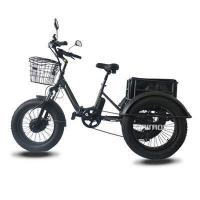 Buy cheap bike wheel Fat Tire 3 wheel Electric bike with Carrier Bag from wholesalers