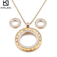 Quality Golden Plated Jewelry Sets For Women Luxury Set for sale