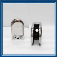 Quality D type inox steel glass clamp for handrail glass fitting for sale