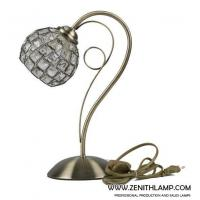 Quality light series Table lamp,E27,crystal ball shade+antique brass,L24H35CM---56633-T1-AB for sale