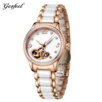 The latest Gezfeel luxury branded rose gold stainless steel diamond watches for women