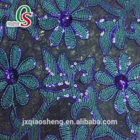 High Quality glitter leather with lace shoes or bags material