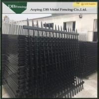 Galvanized steel fence panels,designs for steel fence panels,black steel fence gate