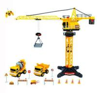 Quality Radio Control Radio control construction tower crane (8ch) with mini trucks and accessaries for sale