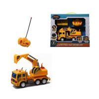 Buy cheap Radio Control RC market hot sale small excavator toy with light and sound (4ch) from wholesalers
