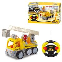Buy cheap Radio Control Plastic building bricks man lift crane truck toy from wholesalers