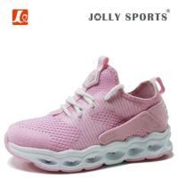 China Kids Flyknit Runing Shoes With LED Light on sale