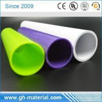 White Fire Resistant 18mm Diameter PVC Tube Plastic Tube for Cable Protection