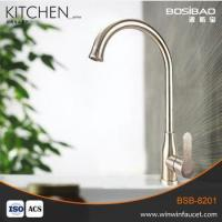 China Factory Wholesale Hot & Cold Water Mixer Tap Single Handle Kitchen Sink Faucet on sale
