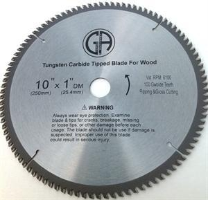 China TCC1100 10-in. - 100 Tooth - Tungsten Carbide Tipped WOOD Cabinet Saw Blade