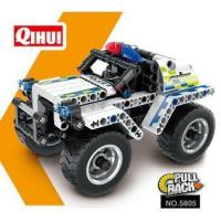 Buy cheap QIHUI construction action mechanism pull back car building block toy from wholesalers