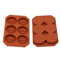 Quality 6 Slots Bitcoin Silicone Mold Baking Mould Tool for sale