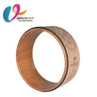 Buy cheap High quality gym workout cork yoga wheel from wholesalers