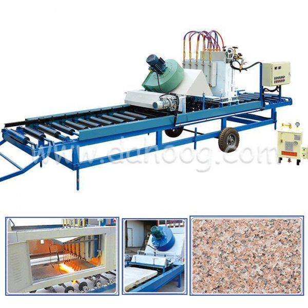 China Automatic Stone Flaming Slabs Machine DH-F1000