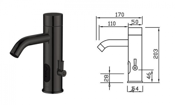 China An Intelligent Faucet TS-5501C