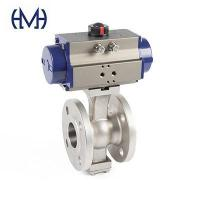 Buy cheap Automated High platform V type Stainless steel Ball Valve from wholesalers