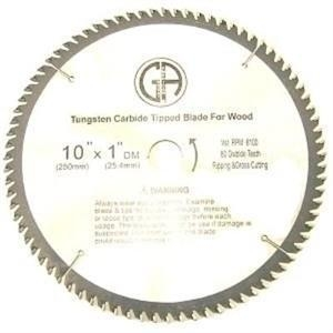 China TCC180 10-in. - 80 Tooth - Tungsten Carbide Tipped WOOD Cabinet Saw Blade