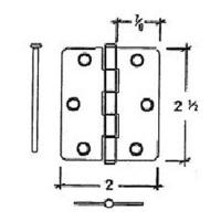 Buy cheap 2.5inch Radius butt hinge from wholesalers