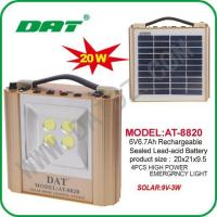 Quality Solar Lighting System AT-8820 solar lighting system panel completely with product for sale