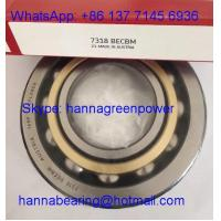 Buy cheap 7318BECBM Brass Cage Angular Contact Ball Bearing 90x190x43mm from wholesalers