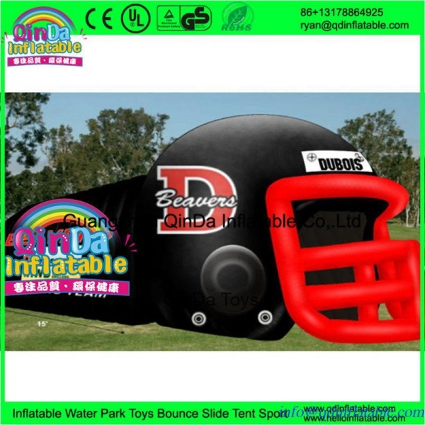 China Giant outdoor used inflatable sports tunnel inflatable football helmet tunnel tent
