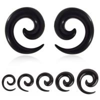 Buy cheap UV Acrylic Black Solid Ear Spiral Ear Expander from wholesalers