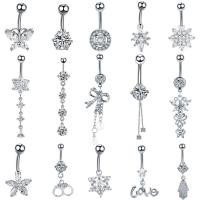 Buy cheap Zircon Navel Button Piercings Belly Dangle Ring from wholesalers